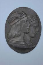Raffael und Fornarina Metall-Relief Florenz 1913