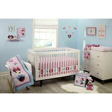Disney Minnie Mouse Happy Day 4 Piece Baby  Crib Bedding Set Discontinued