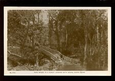 West Africa SIERRA LEONE Forest Rope Bridge early RP PPC local pub Lisk-Carew Br