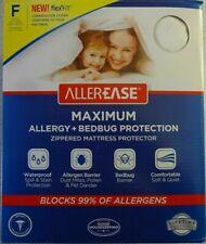 AllerEase Full Size Bed Zippered Encased Allergy & Bedbug Mattress Protector