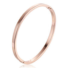 Vintage Womens girls charm oval Classic bracelet Rose Gold Filled jewellry lot