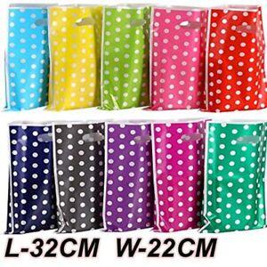 32 X 22 CM Large Polka Dot Party Bag Gift Sweet Treat Loot Party Bag Wedding