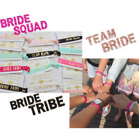 BRIDE TRIBE TEAM BRIDE WRISTBANDS HEN DO PARTY GIFT BAG FAVOURS IDEAS