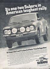 1973 Subaru GL Coupe Race Original Advertisement Print Car Ad J534