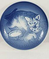 VTG Mother's Day 1971 Mors Dag Plate B&G Porcelain Copenhagen Denmark Cat GUC