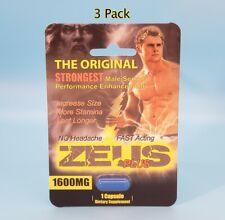 Zeus Plus 1600 - (3 Pack) Male Herbal Sex Enhancement Supplement Pills