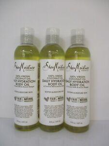 3 Shea Moisture 100% Virgin Coconut Daily Hydration Body Oil 8 Oz Each Jl 13326