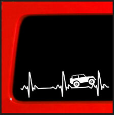 Heart beat EKG for Jeep Wrangler - Sticker / Decal for Car, Truck, Laptop 4x4