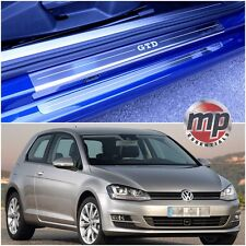 VW Golf Mk7 13  GTD 3dr Stainless Steel Kick Plate Car Door Sill Protectors 4pce