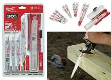 Milwaukee 49-22-1129 12-Piece SAWZALL Demolition Wood & Metal Cutting Blades New