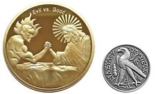 Good vs Evil AA Sobriety Recovery Challenge Coins Set Corinthians 10:13