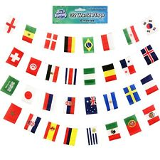 World Cup Bunting All 32 Teams Russia 2018 Football Banner 6m Flags 10cm x 15cm