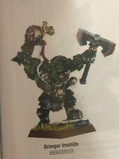 Warhammer Orc Warlord Grimgor Ironhide COMPLETE metal OOP Lord Hero HQ