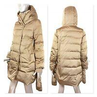 Zara Gold Down Puffer Coat Wraparound Collar & Mittens Brand New Size L AW19