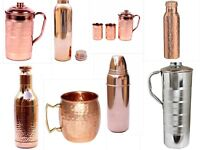 100% Pure Copper Water Jug Pitcher New Copper Indian Ayurveda Product Free Ship