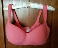 EUC~40DD-Orange-Smooth Cacique Lane Bryant Balconette Bra-Lightly Lined Modern