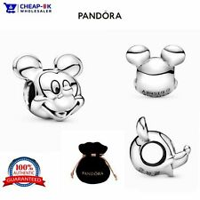 Genuine Pandora Disney MICKEY MOUSE S925 ALE STAMPED Pendant Charm + GIFT POUCH