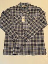 Men's Original Penguin M Long Sleeve Flannel Button Up Shirt Brand NWT OPWM804