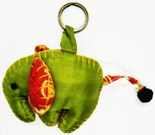 Elephant Pattern Scotch Animal Lover Doll Keyring Sewing Charm Cute Fabric