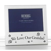 We Love Our Grandad Photo Frame Silver Satin Birthday Fathers Day Gift Present