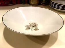"Towne Fine China Porcelian Bavaria Germany Moonlight Rose 9+"" Serving Bowl NICE!"