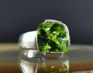 Massiver moderner Lemonquarz JOOP Designer Ring 925 Silber 18,5 mm