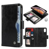 Premium Vintage Classic Business Style Leather Wallet Case for Men, for iPhone X
