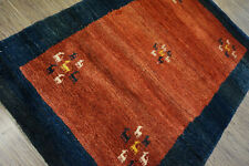 99-Wunderschöner Original Persischer Gabbeh,197x138 cm²,Carpet,Teppich,Tappeto