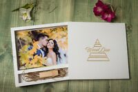 Handmade wedding wood photo box for USB Drive for wedding or family photo 5x7 in