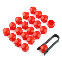 20PCS 17mm RED ALLOY CAR WHEEL NUT BOLT COVERS CAPS UNIVERSAL FOR ANY CAR NEW