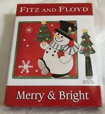 Fitz and Floyd Merry & Bright Snack Plate With Spreader New In Box