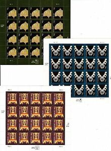 US #3749 1c TIFFANY #3753 2c JEWELRY #3755 4c CHIPPENDALE CHAIR MVF STAMP SHEETS