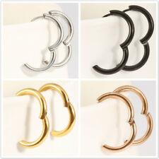 Surgical Steel Small Hoop Earrings Set for Men Women Kids Huggie Earrings HD