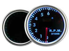 Motor Meter SMOKE LED Blau Zusatzanzeige Zusatzinstrument Drehzahlmesser DZM