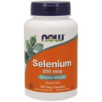 NOW Foods Selenium 200mcg 180 Veggie Caps FREE Shipping Made in USA FRESH