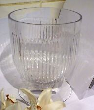 Floristry glass vintage orchid pot or vase victorian hurricane clear ribbed 16cm