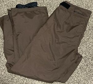 Womens Columbia Sportswear Brown Small Lined Polyester Winter Snow Pants EUC
