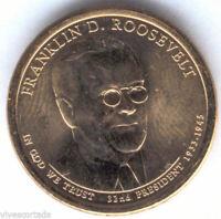 U.S.A. 1 Dolar Franklin D. Roosevelt 2014 P @ PRESIDENTE Nº 32 @