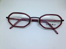 BYBLOS B650 occhiali da vista vintage acetate unisex red black glasses lunettes