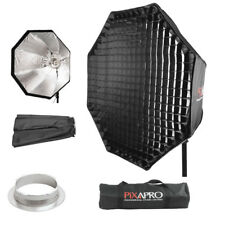 90cm Easy Open Octagon Studio Ombrello Softbox 4cm Griglia Multiblitz (V) RACCORDO