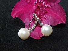 Ohrringe Perlen  Fb. Weiß Silber Ohrhänger Ohrstecker Schmuck Modeschmuck