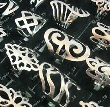 10pcs silver style iron alloy Rings Wholesale jewelry big fashion free shipping