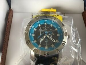 Invicta Men 50mm Automatic NFL OFFICIAL Carolina Panthers Silicone Strp Watch