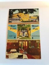 Vintage Mercer Pennsylvania Hotel Hines - Rader Hall Linen Postcard