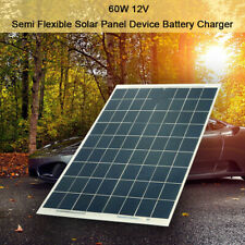 60W Solar Panel Flexible Off Grid Battery Charger 12V for RV Camping Boat Car US