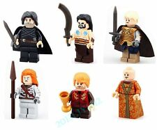 6 Set Lot Game of Thrones Toy Jon Snow Figures Tyrion Brienne Blocks Bricks Gift