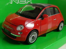 Nex 1/24 Scale 22514W 2007 Fiat 500 Red Diecast model car
