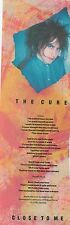 CURE Close To Me lyrics magazine PHOTO / Clipping 11x4 inches