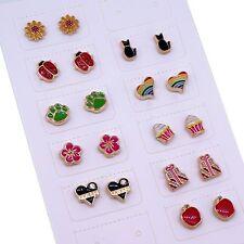 Color Enamel Magnetic Clip on Earrings for Teen Girls Wholesale