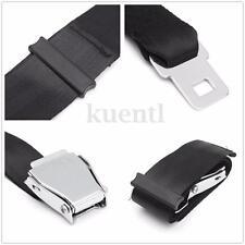 70cm Adjustable Black Airplane Seat Belt Extension Extender Buckle Belt Extended